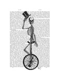 Skeleton on Unicycle