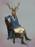 Distinguished Deer Full Reproduction d'art par Fab Funky