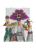Mardi Gras Gaggle of Geese Reproduction d'art par Fab Funky