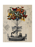 Butterfly Airship Reproduction d'art par Fab Funky