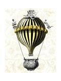 Baroque Balloon Black Yellow Reproduction d'art par Fab Funky