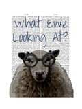 What Ewe Looking At Reproduction d'art par Fab Funky