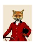 Fox Hunter 2 Portrait Reproduction d'art par Fab Funky
