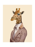 Regency Giraffe Reproduction d'art par Fab Funky