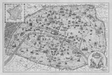 Vintage Paris Map - B&W
