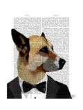 Debonair James Bond Dog Reproduction d'art par Fab Funky