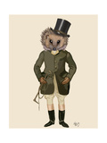 Hedgehog Rider Full Reproduction d'art par Fab Funky
