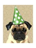 Party Pug Reproduction d'art par Fab Funky
