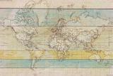 Wood Panel Map Giclée par Rufus Coltrane
