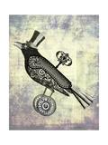 Steampunk Crow Reproduction d'art par Fab Funky