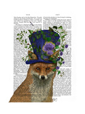 Fox Mad Hatter Reproduction d'art par Fab Funky