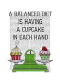 A Balanced Diet Illustration Reproduction d'art par Fab Funky