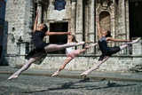 Ballerinas from the National Ballet of Cuba Dance on the Streets of Havana