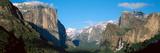 El Capitan and Half Dome Rock Formations  Yosemite National Park  California