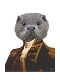Captain Otter Reproduction d'art par Fab Funky