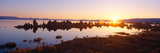 Tufa Rock Formations Emerging from Mono Lake at Sunrise  California