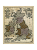 Map of England  Scotland and Ireland