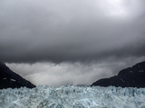 The Face of Margerie Glacier under a Cloud-Filled Sky