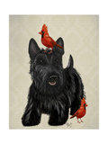 Scottie Dog and Red Birds