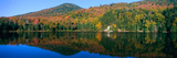 Panoramic View of Crawford Notch State Park in the White Mountains  New Hampshire