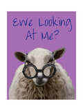 Ewe Looking at Me DeNiro Sheep Reproduction d'art par Fab Funky