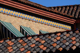 A Brick and Tile Pattern Near a Tile Roof  Influenced by their Sister City  Seville  Spain