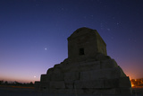 The Crescent Moon and Venus Rising Above the Tomb of King Cyrus the Great