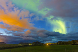 A Northern Lights Display During a Geomagnetic Solar Storm on the South Coast of Iceland