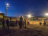 Riders Wait to Go into the Arena at the Dubois  Wyoming Rodeo