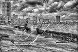 Ballerinas from the National Ballet of Cuba Dance on Havana's Malecon