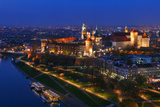 An Aerial View of Wawel Royal Castle and Vistula River