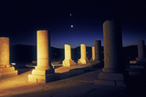Planets and the Crescent Moon in Rare Alignment over the 2500-Year Old Palace of Cyrus the Great