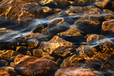 Light Playing on Rocks in Shallow Water  in Jordan Pond