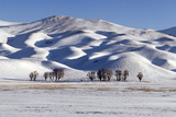 A Snow-Covered Winter Landscape in the Alborz Mountains of Iran