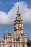 Low Angle View of Big Ben and Houses of Parliament  City of Westminster  London  England