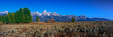 This Is Grand Teton National Park There Is a Pioneer Farm with the Tetons Behind It