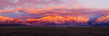 Sunset over Mountain Range  Sangre De Cristo Mountains  Taos  Taos County  New Mexico  Usa