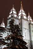 Low Angle View of the Mormon Temple  Salt Lake City  Utah  Usa