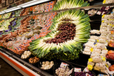 Fruit and Vegetable Section in Supermarket