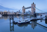 View of St Katharine Pier and Tower Bridge  Thames River  London  England