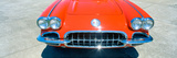 Restored Red 1959 Corvette  Front Close-Up  Portland  Oregon