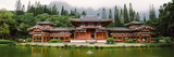 Buddhist Temple with Mountain in the Background  Byodo-In Temple  Koolau Range  Oahu  Hawaii  Usa