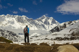 A Sherpa Against the Backdrop of Lhotse