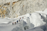 A Sherpa Guide Leads Spanish Clients on 20 000 Foot Island Peak