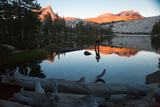 A Man Watches the Sunset over Cathedral Peak in Tuolumne Meadows