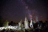 Rock Formations at Mono Lake and the Milky Way