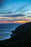 The California Coastline at Sunset Near Malibu