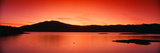 Sunset at Ashokan Reservoir  Catskill Forest Preserve Near Woodstock  New York