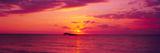 Sunset over The  Atlantic Ocean  Cat Island  Bahamas