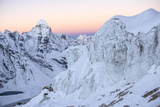Ama Dablam and a Hanging Glacier  Seen from Island Peak  at Sunrise
